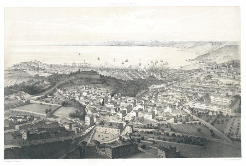 Trieste. Vue prise au-dessus des Fondi Arteli von Schultz, C.
