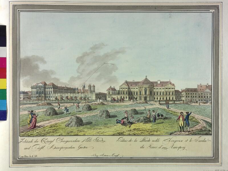 Wien: Palais Auersperg, 1780. von Ziegler, Johann
