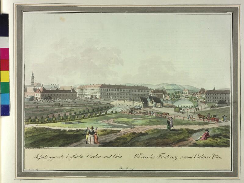 Wien: 4. Bezirk Wieden, Freihaus, 1780. von Ziegler, Johann
