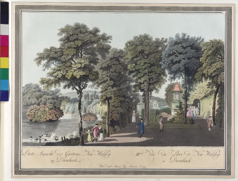 Wien: Schloss Schwarzenberg in Neuwaldegg, 1792. von Janscha, Lorenz