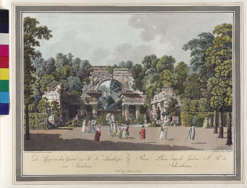 Wien: Schönbrunn: Römische Ruine, um 1792. von Janscha, Lorenz