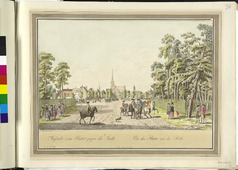 Wien 2., Prater, 1781. von Ziegler, Johann