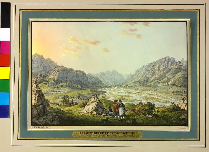 Das Lechtal von Reutte aus gesehen von Viehbeck, Karl Ludwig Friedrich