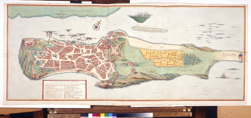 Stadtplan von Macao von Vingboons, Johannes