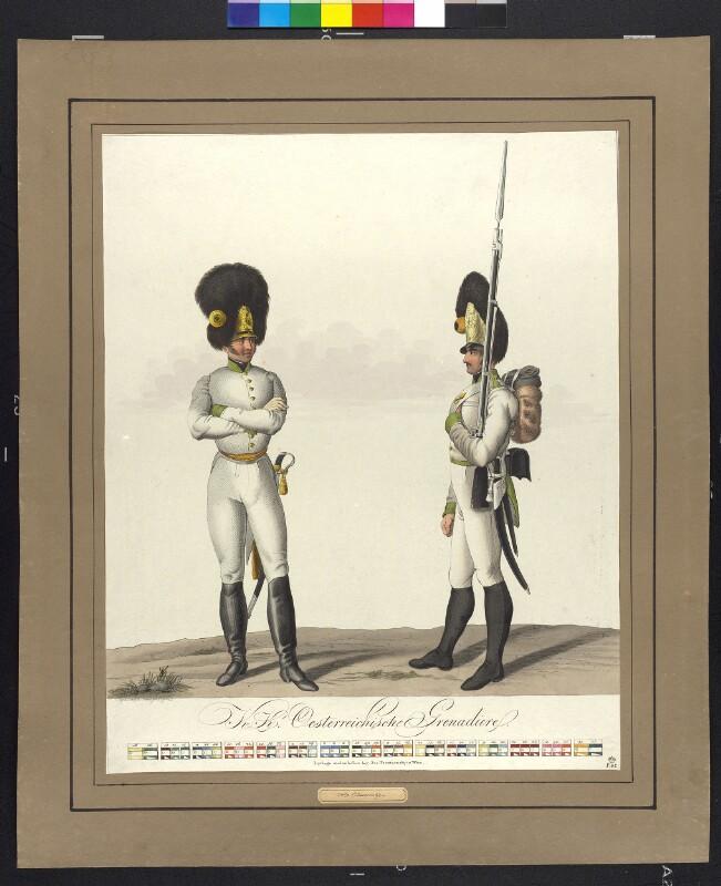 Österreichische Grenadiere um 1820 von Papin, Heinrich