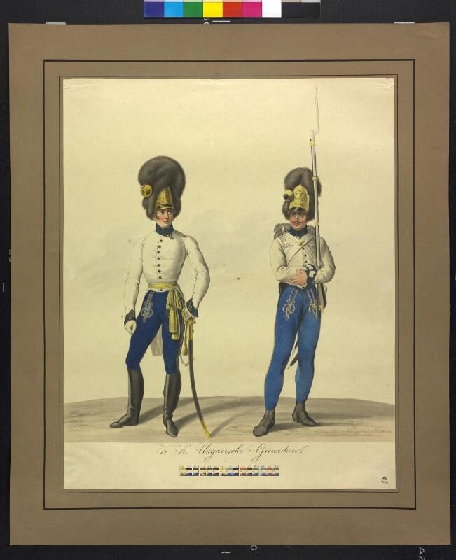 Ungarische Grenadiere um 1820 von Papin, Heinrich