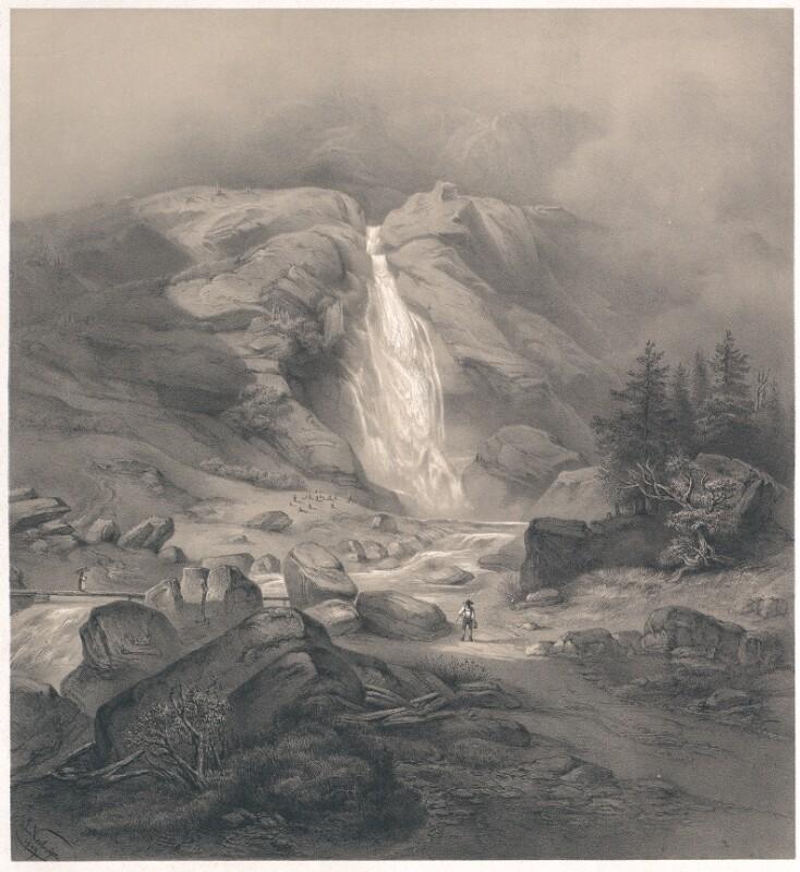 Wasserfall bei Partschins in der Nähe von Meran von Neelmeyer, Ludwig