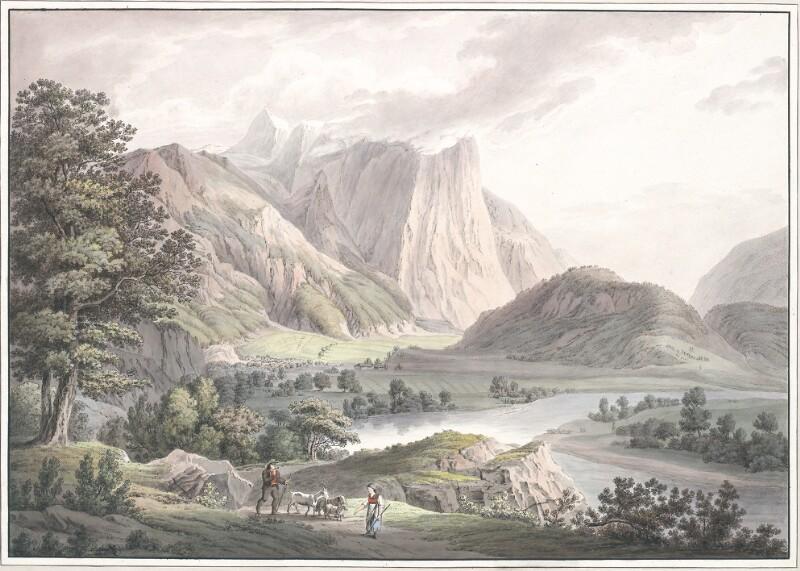 Vue du Tyrol [ Die Engelswand bei Umhausen in Tirol ] von Gauermann, Jacob