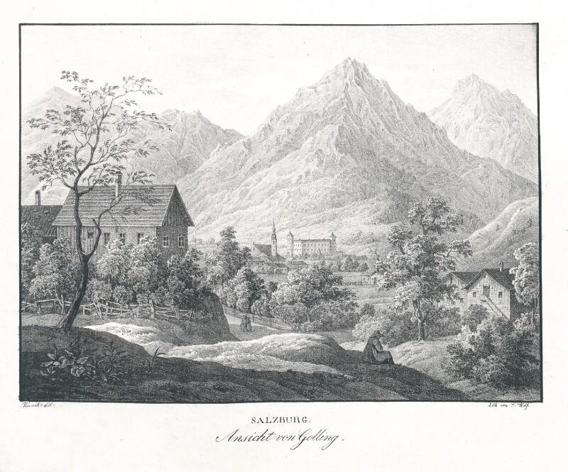 Ansicht von Golling. Salzburg von Kunike, Adolf