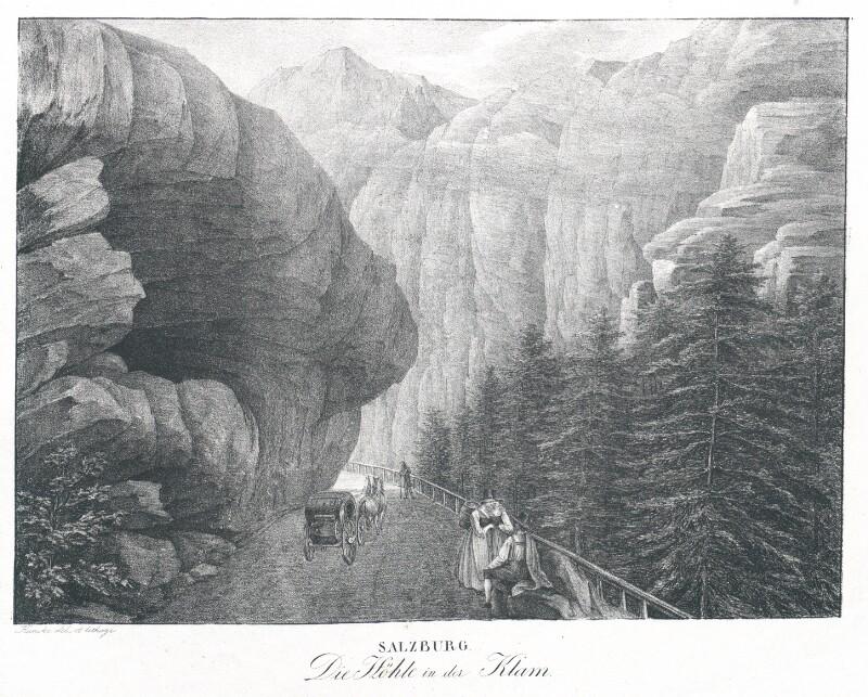Die Höhle in der Klam. Salzburg von Kunike, Adolf