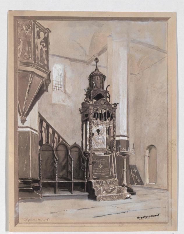 Wunderbild in der serbischen Wallfahrtskirche in Cajnica von Charlemont, Hugo