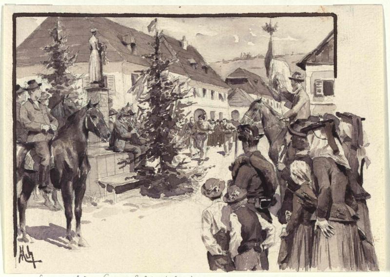 Der Wettlauf in Weitensfeld, Kärnten von Myrbach-Rheinfeld, Felician von