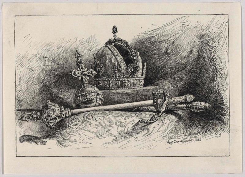 Habsburgische Hauskrone und Krönungsinsignien von Charlemont, Hugo