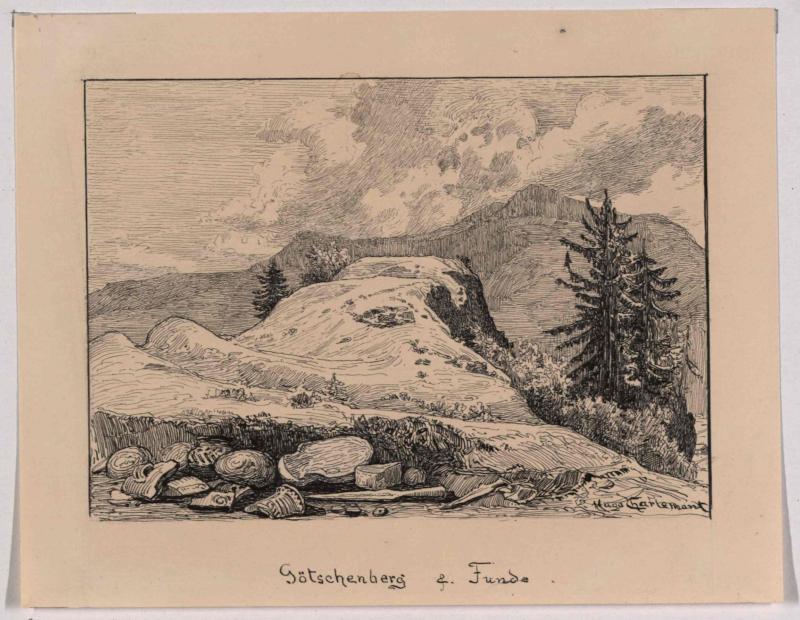 Götschen und archäologische Funde von Charlemont, Hugo