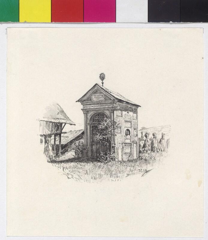 Römische Funde - Prunnerkreuz auf dem Zollfeld von Charlemont, Hugo