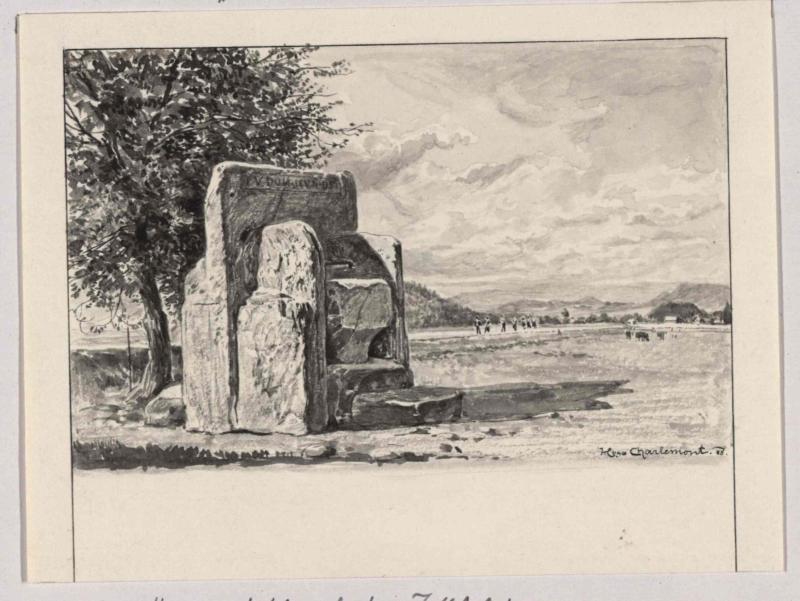 Herzogsstuhl auf dem Zollfeld bei Maria Saal von Charlemont, Hugo