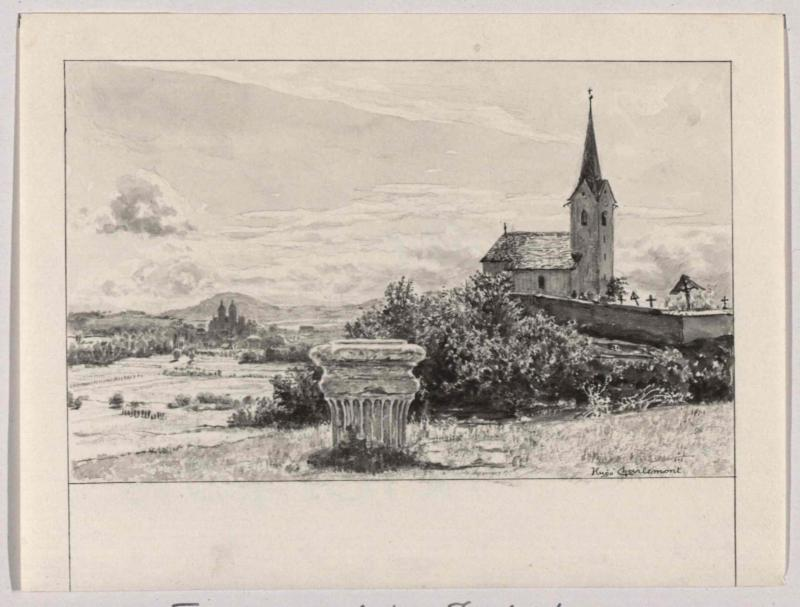 Fürstenstein auf dem Zollfeld von Charlemont, Hugo
