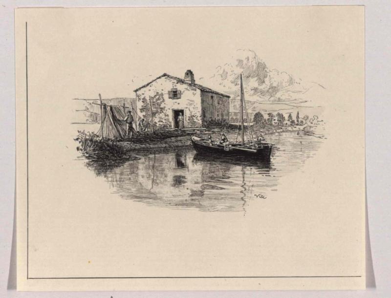 Fischerhütte auf Zaule (Istrien) von Charlemont, Hugo