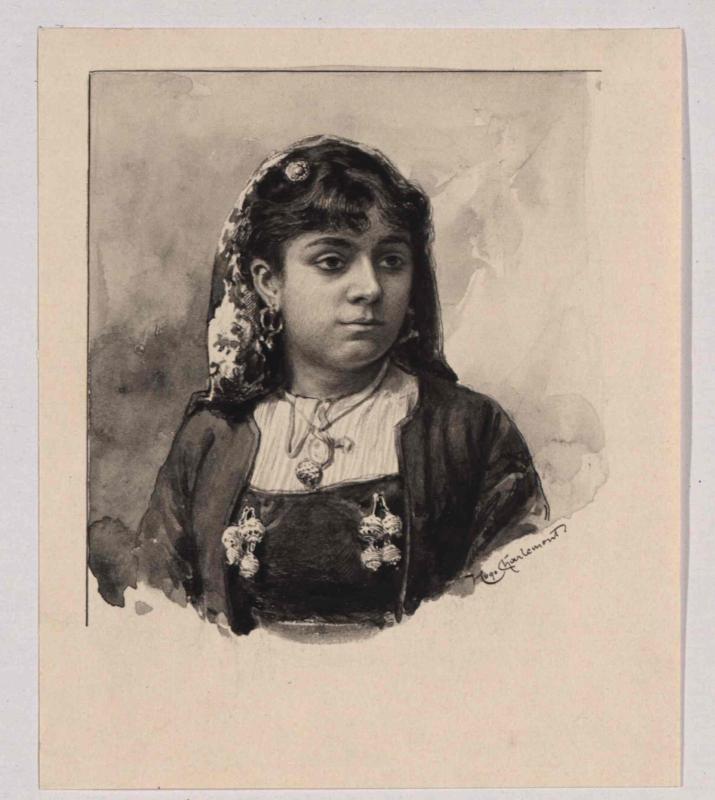 Typus einer Bewohnerin von den Scoglien von Charlemont, Hugo
