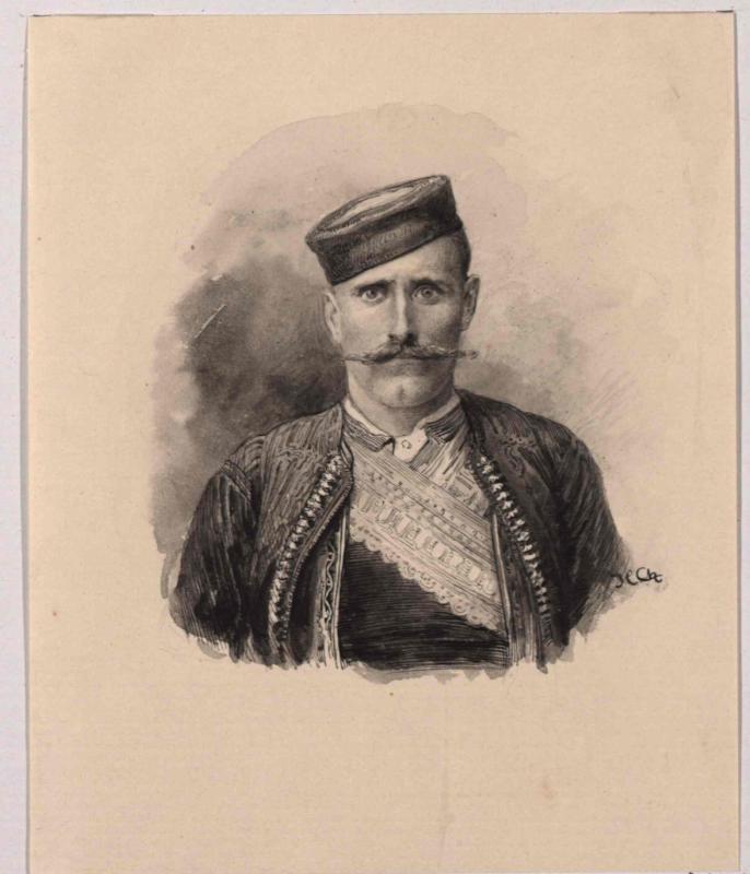 Typus eines Bewohners aus den Bocche di Cattaro (Kotor) von Charlemont, Hugo