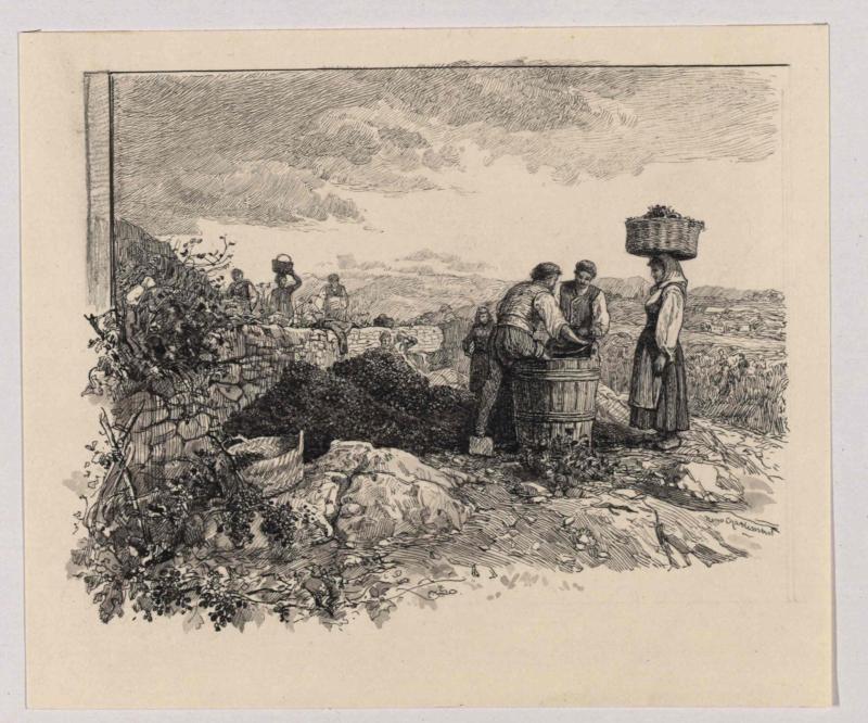 Weinlese bei Spalato (Split) von Charlemont, Hugo