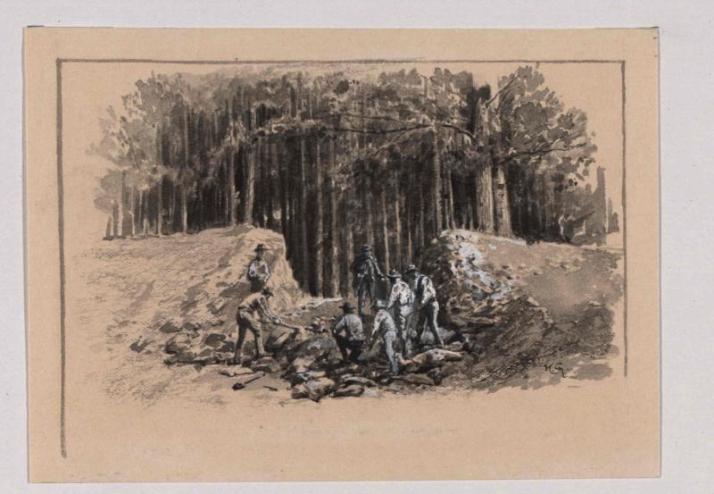 Durchstich des Walles auf dem Hradiste bei Strakowitz von Charlemont, Hugo