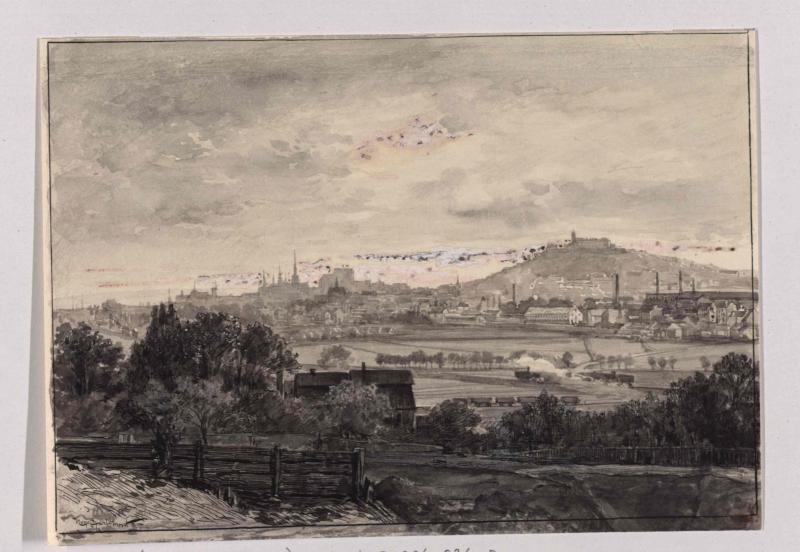 Brünn von Norden gesehen von Charlemont, Hugo