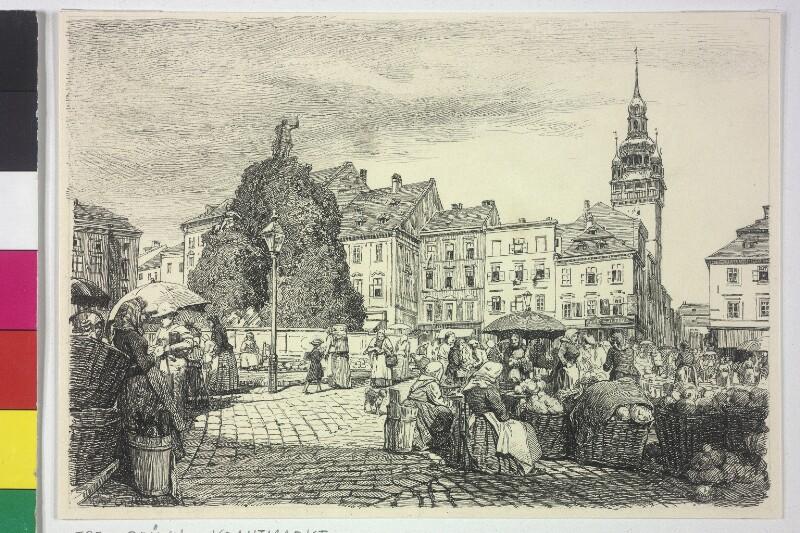Der Krautmarkt in Brünn von Charlemont, Hugo