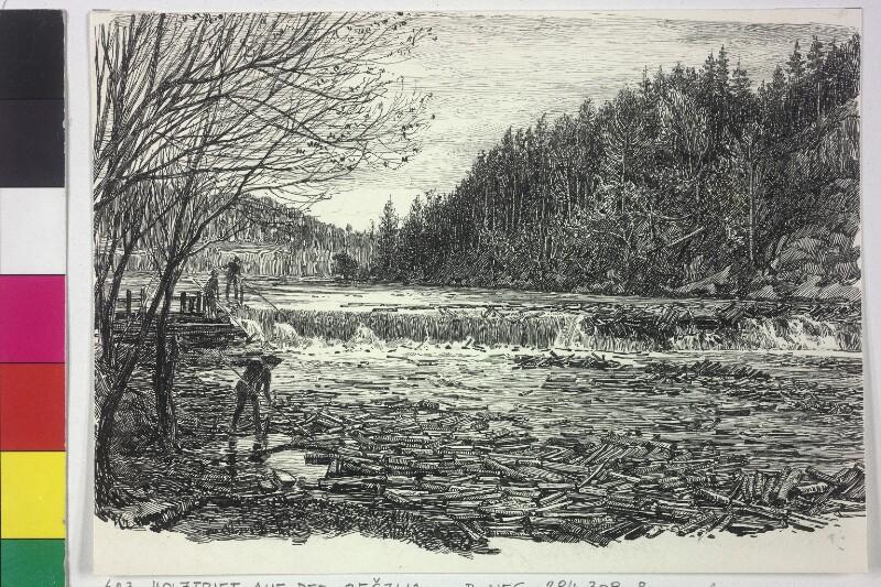 Holztrift auf der Bečva von Charlemont, Hugo