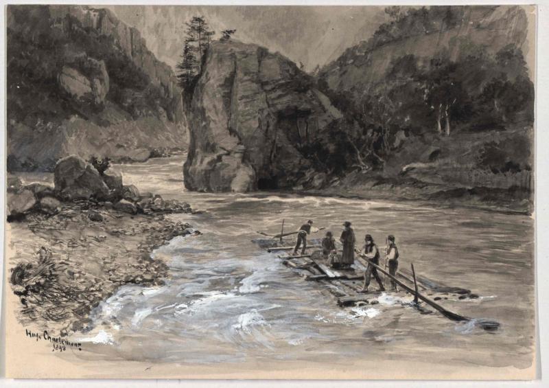Floßfahrt auf der Oberen Drina von Charlemont, Hugo