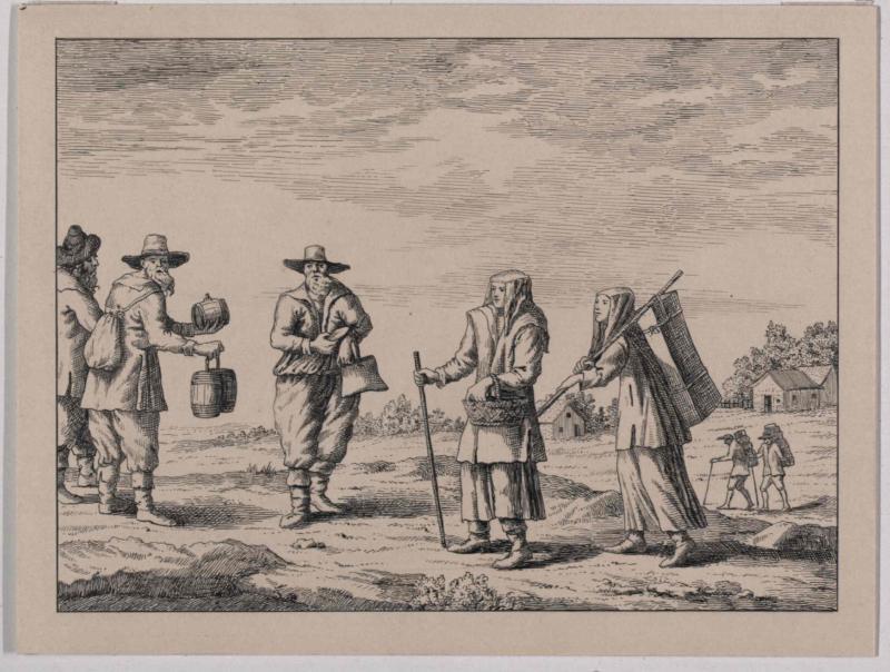 Alte Tracht der Gottscheer aus dem 17. Jahrhundert von König, Friedrich