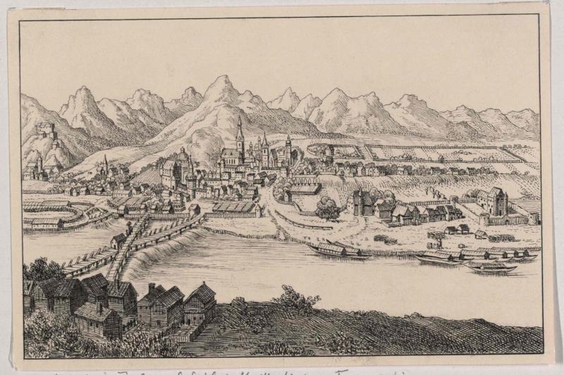 Hall in Tirol um das Jahr 1649 von König, Friedrich