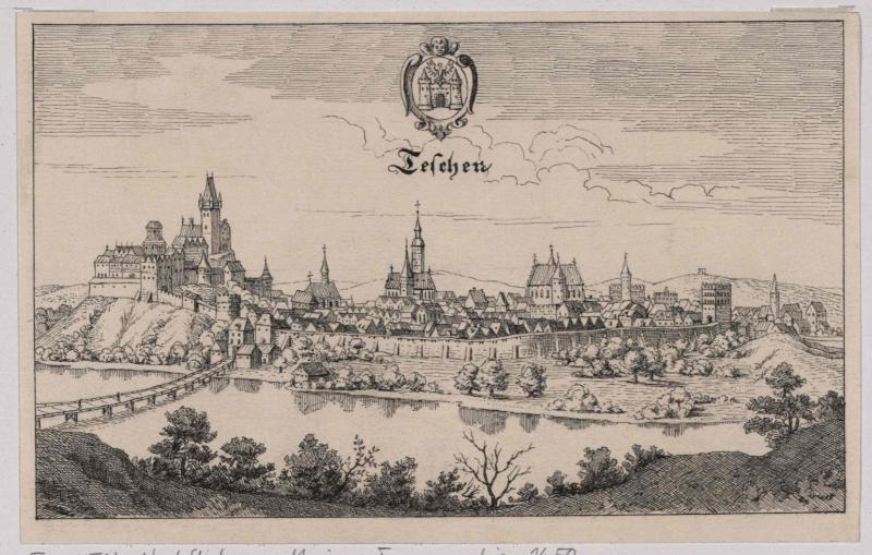 Teschen im 17. Jahrhundert von König, Friedrich