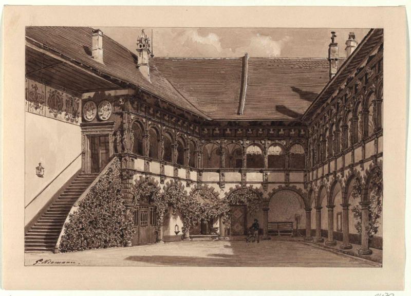 Schloß Schallaburg - Innenhof von Niemann, Georg
