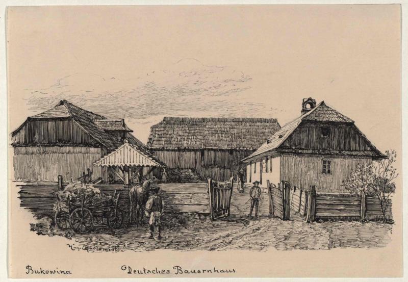 Deutsches Bauernhaus in Mitoka von Charlemont, Hugo