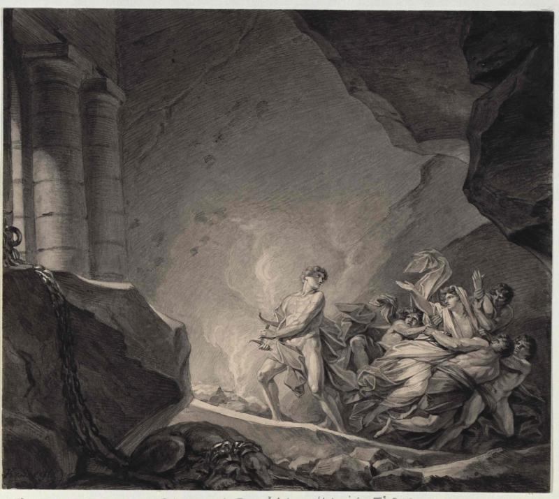 Orpheus und Euridike - Gemälde von Heinrich Füger von Füger, Heinrich Friedrich