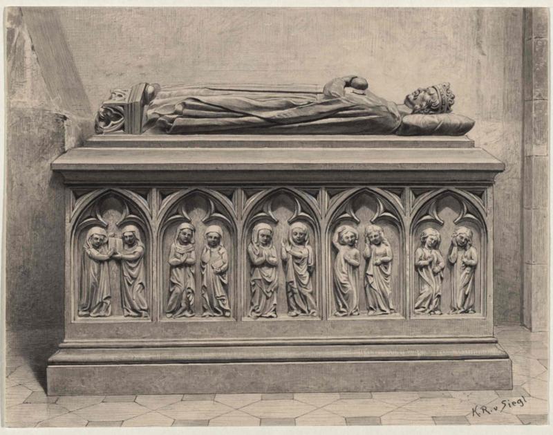 Grabmal des Władysław Łokietek in der Kathedrale in Krakau von Siegl, Karl Ritter von