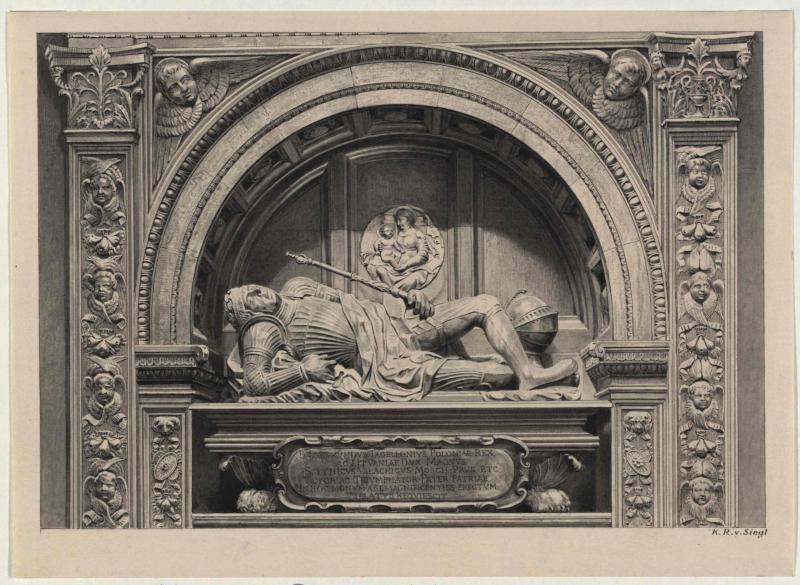 Grabmal Sigismund I. in der Kathedrale in Krakau von Siegl, Karl Ritter von