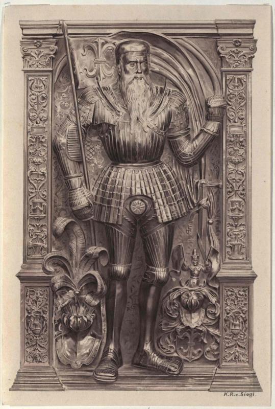 Grabmal des Severin Bonar in der Marienkirche in Krakau von Siegl, Karl Ritter von