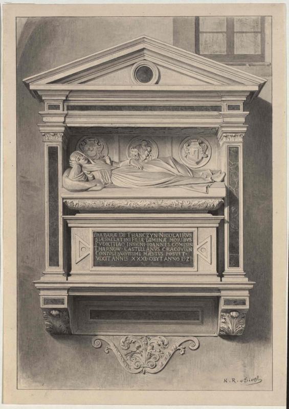 Grabmal der Barbara Gräfin Tarnowska in der Kathedrale von Tarnów, 1521 von Siegl, Karl Ritter von