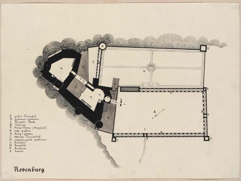 Schloss Rosenburg - Grundriss von Rosner, Karl