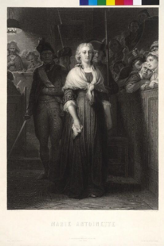 Marie Antoinette, Erzherzogin von Österreich von Delaroche, Paul