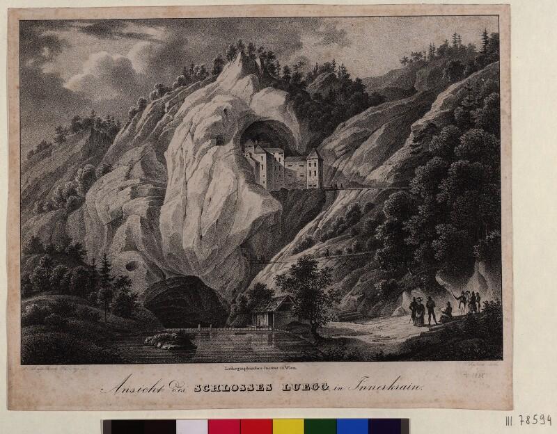 Ansicht des Schlosses Luegg in Innerkrain von Schaffenrath, Alois