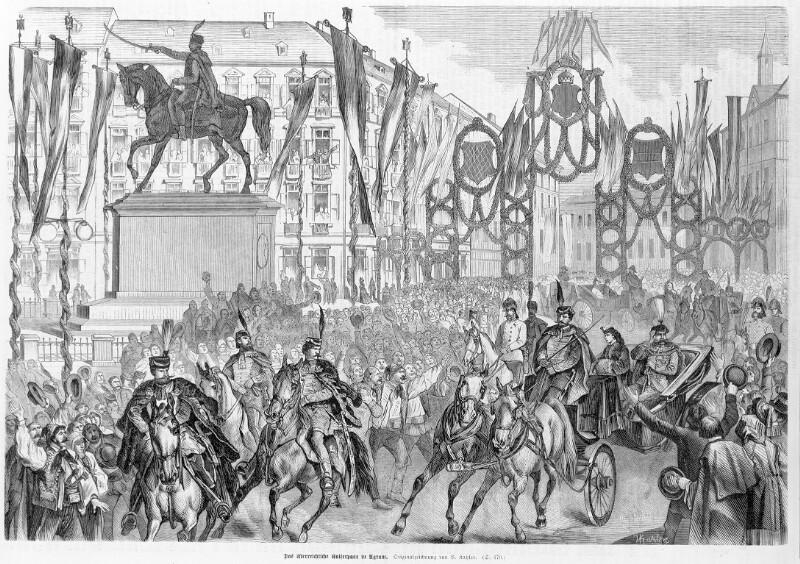 Ankunft des österreichischen Kaiserpaares in Agram von Katzler, Vinzenz