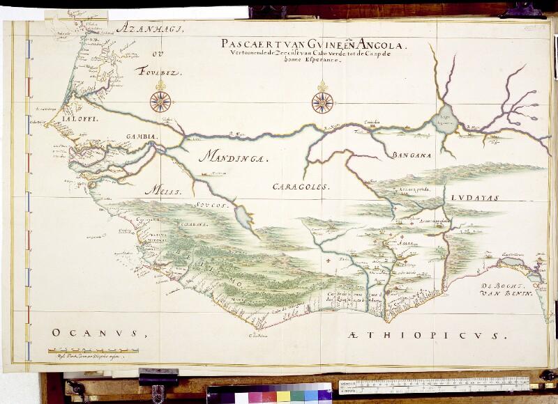 Landkarte der westafrikanischen Küste von Vingboons, Johannes