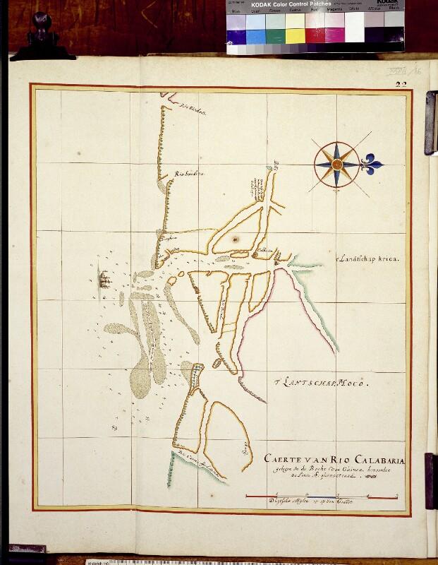 Landkarte der Calabarmündung von Vingboons, Johannes