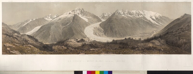 Mont Blanc von Cicéri, Eugène