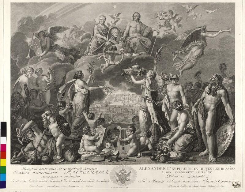 Allegorie auf die Thronbesteigung des Kaisers Alexander I. von Rußland von Meys, Ferdinand de
