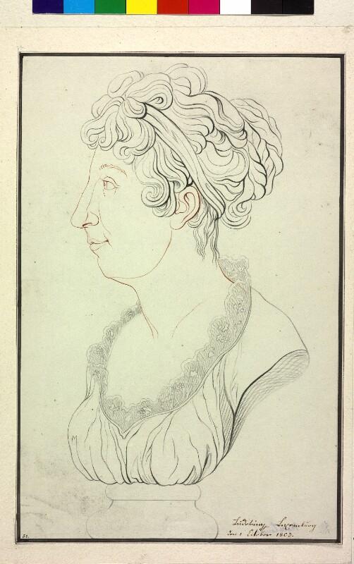 Studie einer weiblichen Büste (vermutlich Kaiserin Maria Theresia von Österreich 1772–1807) von Marie Luise, Erzherzogin von Österreich