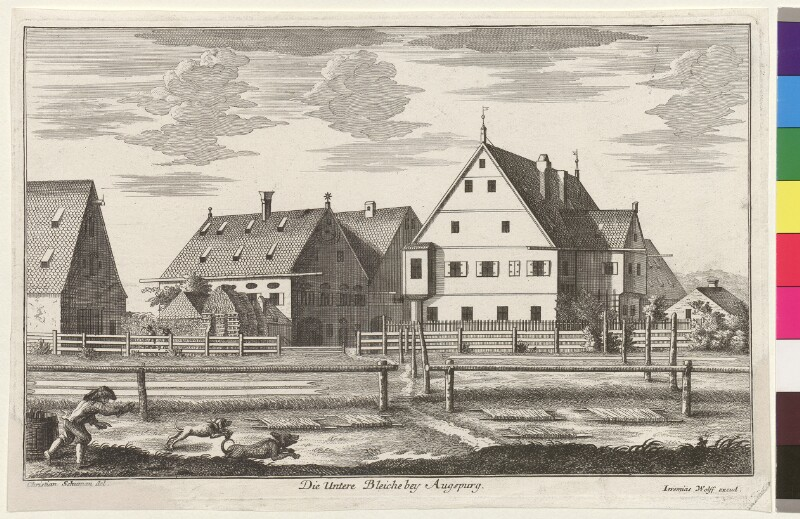 Die untere Bleiche bey Augsburg von Schumann, Christian